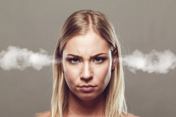 woman angry at how personal data was used