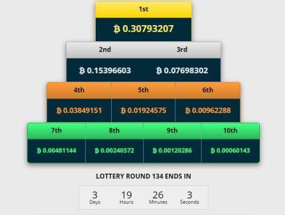 призовой фонд лотерейного розыгрыша freebitcoin