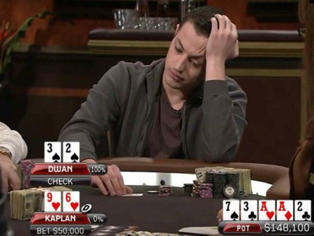 томас дван принимает решение за покерным столом