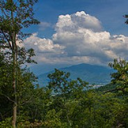 Overlook of Greybeard Mountain