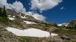 Crossing a snow field