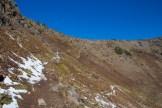 Hiking above treeline