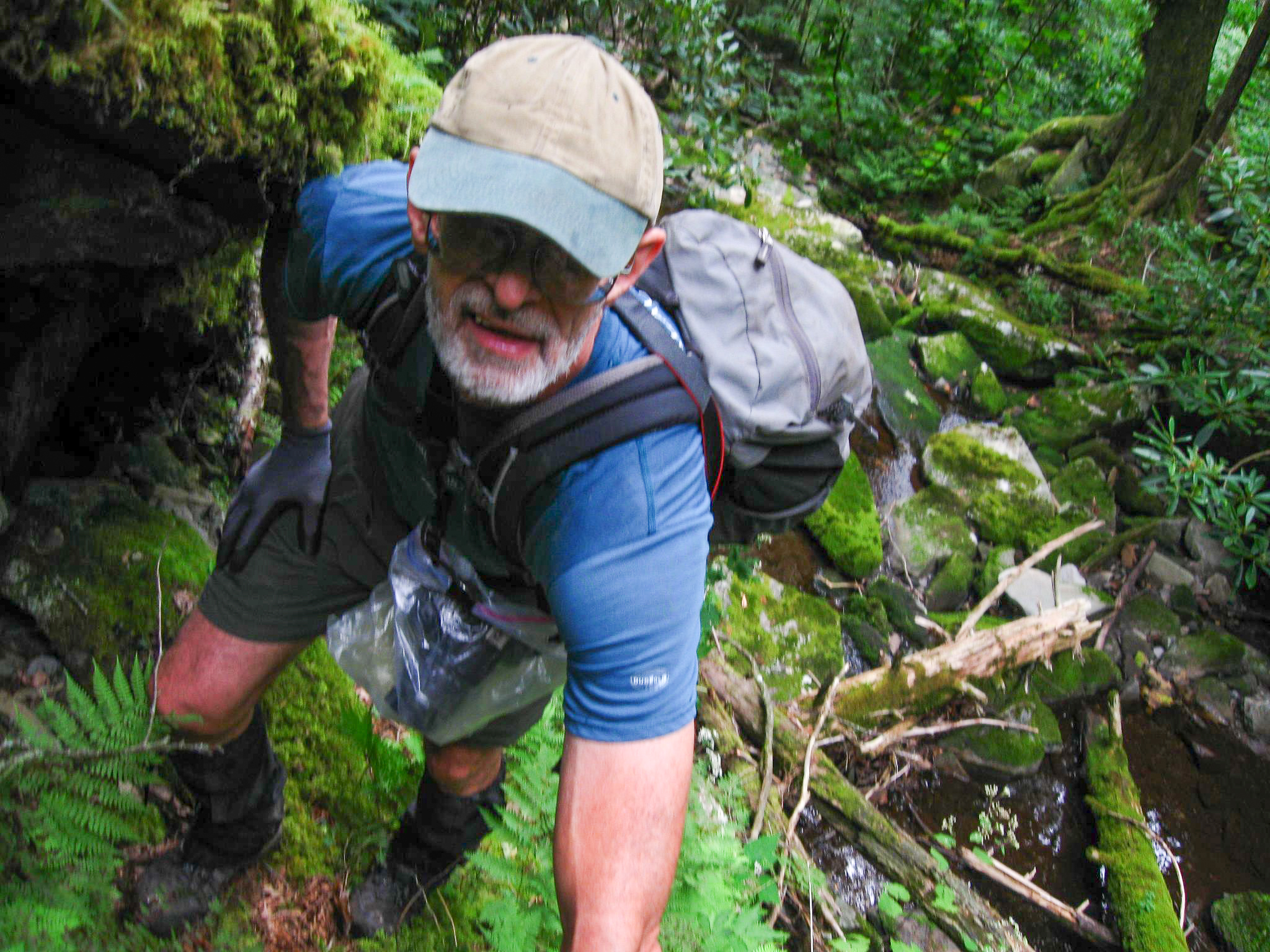 Dave on Roaring Fork Branch - Photo by Seth O'Shields