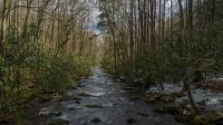 Oconaluftee River at the trailhead