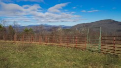 Horse corral at Blue Ridge Pastures