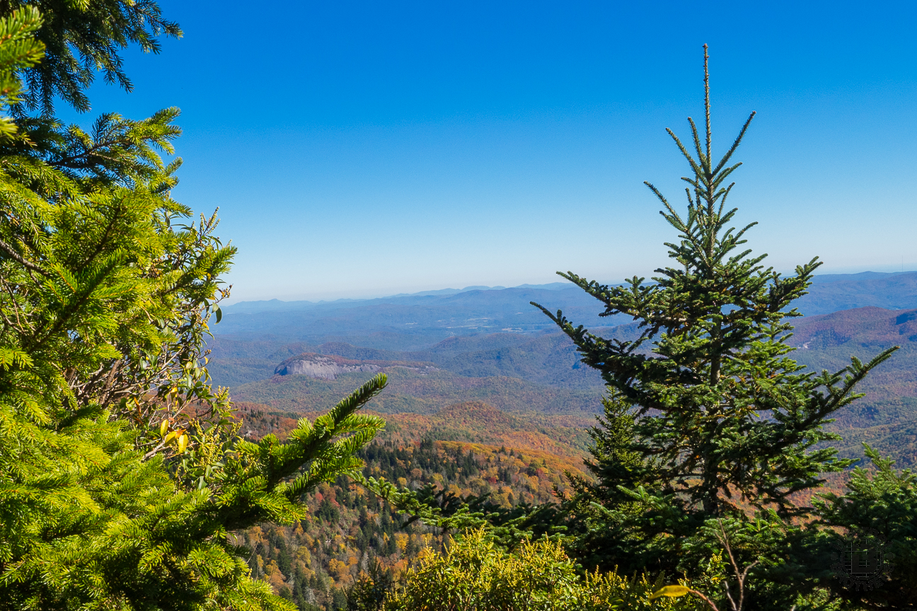 For example, this view of Looking Glass Rock is from one of the spur trails on Silvermine Bald.