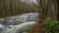Churning river