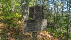 Trail sign at Sunkota Ridge Jct.