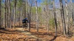 Mountain biker getting air