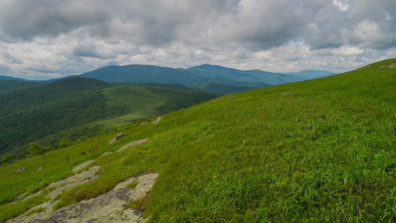 From Houston Ridge we could see Little Hump in the foreground, with the Roan Highlands behind.