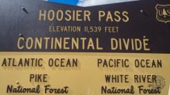 Hoosier Pass sign