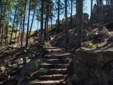 Winding stairway