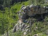 Hikers below
