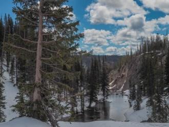 Lake Marie Falls precipice