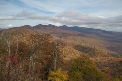 The Pisgah Ridge as seen from Pounding Mill Overlook on the BRP