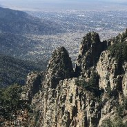 Hiking the Sandias in central New Mexico