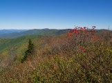 Cold Mountain as seen from the south summit of Sam Knob