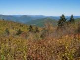 Shining Rock Wilderness from Flat Laurel Creek Trail below Sam Knob