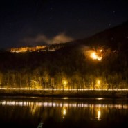 Officials battling fire at popular hiking site at Delaware Water Gap
