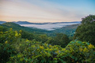 Valley fog all around
