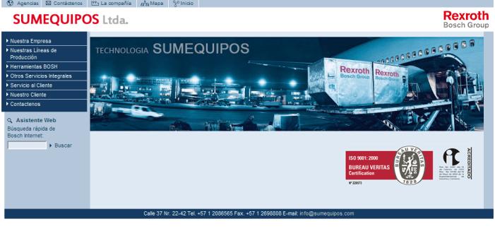 Sumequipos Ltda, una web que crece al ritmo de la compañía