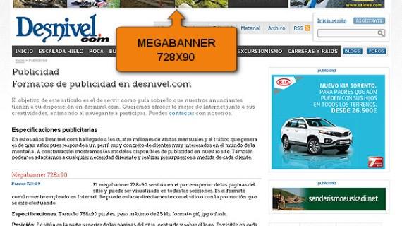 El Megabanner sigue siendo el formato publicitario más utilizado