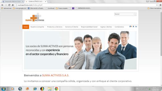 Suma Activos, un sitio web que suma