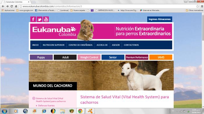 Eukanuba, un página extraordinaria para usuarios extraordinarios