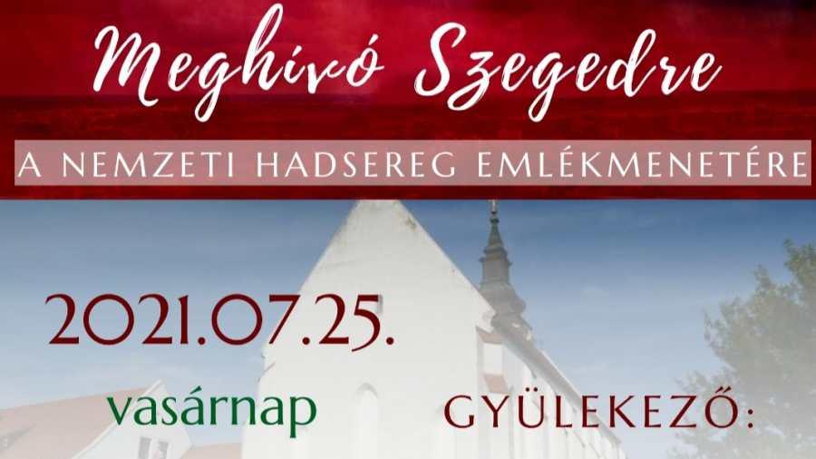 A Nemzeti Hadsereg 102 évvel ezelőtti megalakulására emlékeznek vasárnap Szegeden