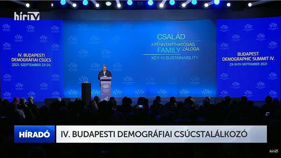 Orbán Viktor miniszterelnök beszéde a IV. Demográfiai Csúcstalálkozón 📺