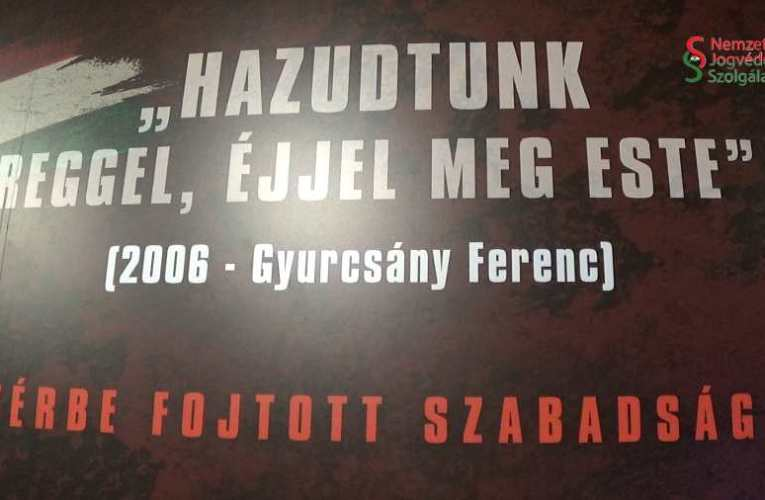 Vérbe fojtott szabadság – tudósítás a 2006 őszi állami terrorról szóló vándorkiállítás megnyitójáról 📺