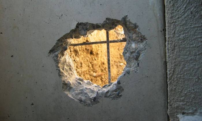 Zement-Kreuz