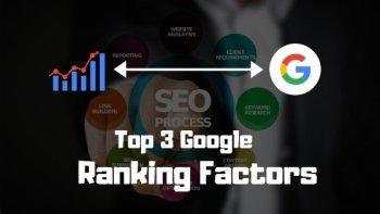 Google ranking factors, ranking factors