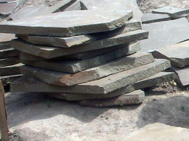 плитняк толстый 5-7см для кладки подпорных стен и мощения дорожек