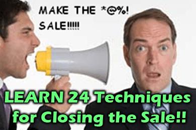 УЗНАЙТЕ 24 метода закрытия продажи !!
