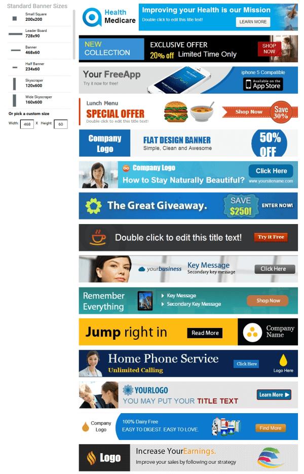 Banner Ad Templates - Visme Review