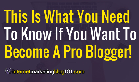 This Is What You Need To Know If You Want To Become A Pro Blogger!