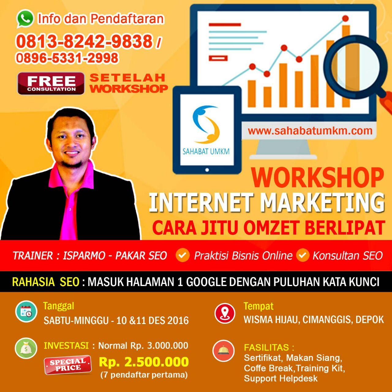 Pelatihan SEO Internet Marketing untuk UKM di Depok