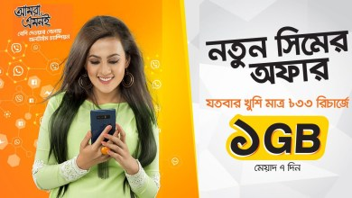Banglalink New SIM Offer | Banglalink Get 1GB Internet 33Tk (7 Day)