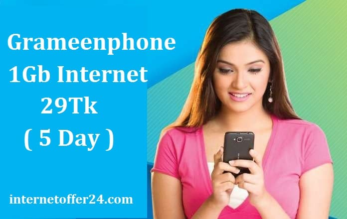 GP 1Gb Internet 29Tk (5Day)