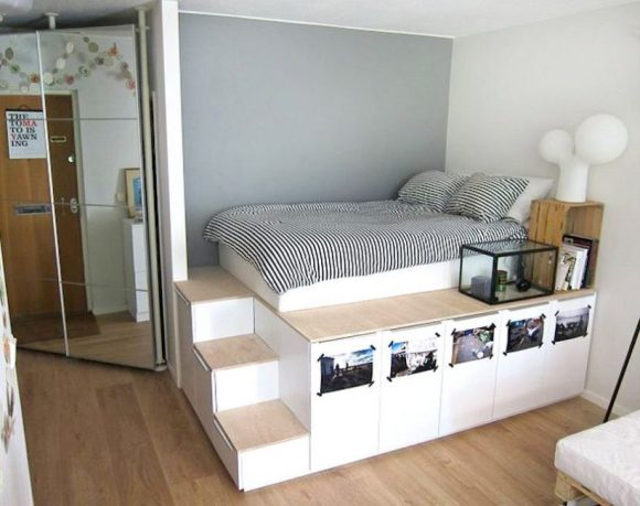 bed platform with storage