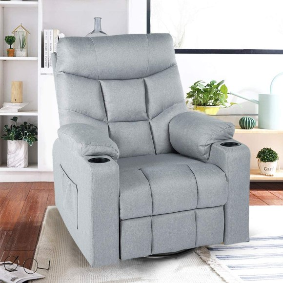 Reclining-Massage-Chair-with-Gray-Fabric