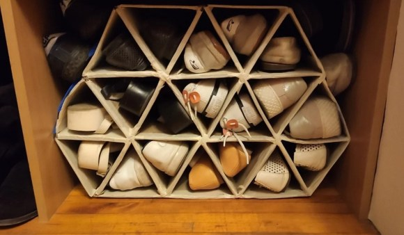 Shaped Entryway Shoe Cubby