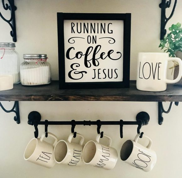 coffee-station-Storage-and-Religious-Sign
