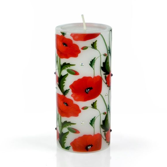 Decorative Candles with Floral Design