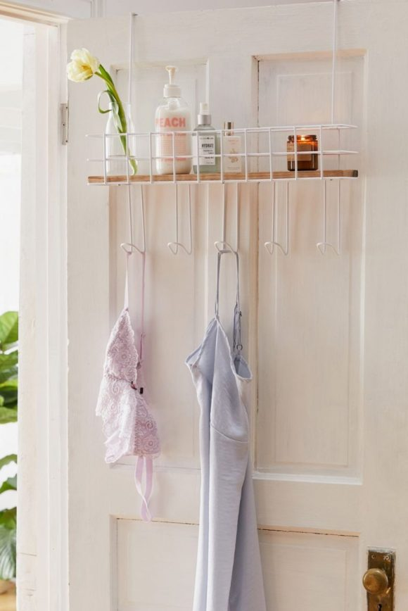 High Shelves and Door Hooks Entryway Decor Idea