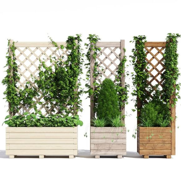 Homemade Wooden Vine Trellis