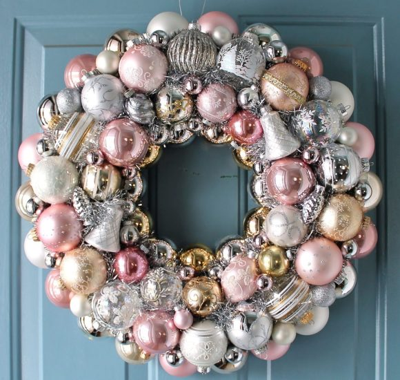 Pastel Ball Wreaths and Pillows