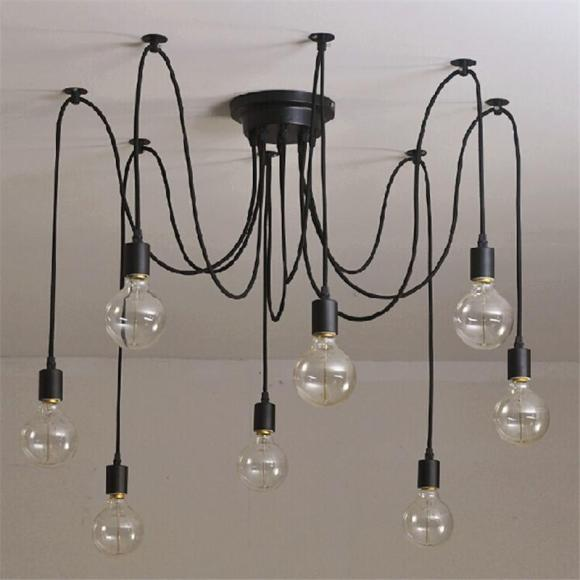 Rustic Industrial Hanging Wire Lights