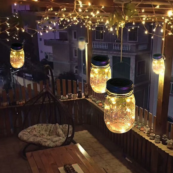 Rustic Industrial Light Jars